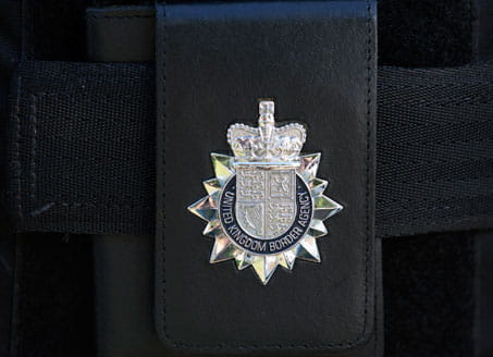 Image of UKBA badge. Credit: Getty Images