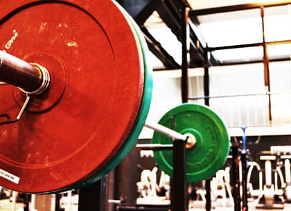 Barbell weights in gym